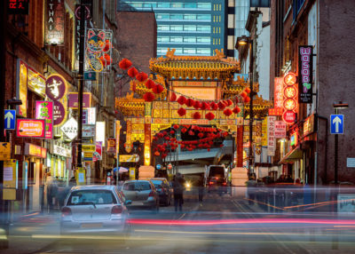 China town in Manchester on the Chinese new year